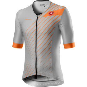 Castelli Free Speed 2 Race Top Manga Corta Hombre, silver gray/brilliant orange